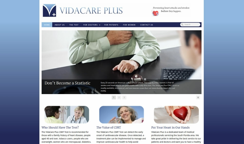 VidaCare Plus Homepage