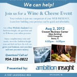 South Florida Web Development Wine & Cheese Flyer